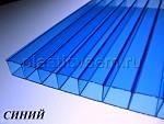 Сотовый поликарбонат цвет синий