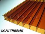 Сотовый поликарбонат цвет коричневый янтарь