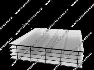 Стурктура сотового поликарбоната 5R многослойная